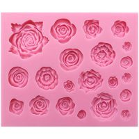 Funshowcase 21 Cavity Roses Collection Fondant Candy Silicone Mold