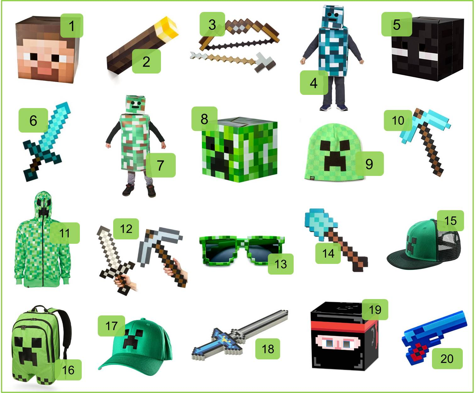 Minecraft Halloween Costumes and Accessories - Sunny Sweet Days