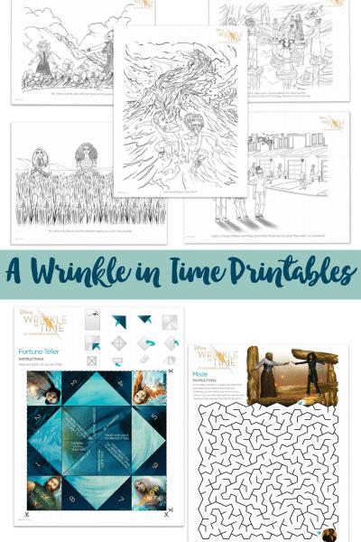 A Wrinkle in Time Printables #WrinkleInTime