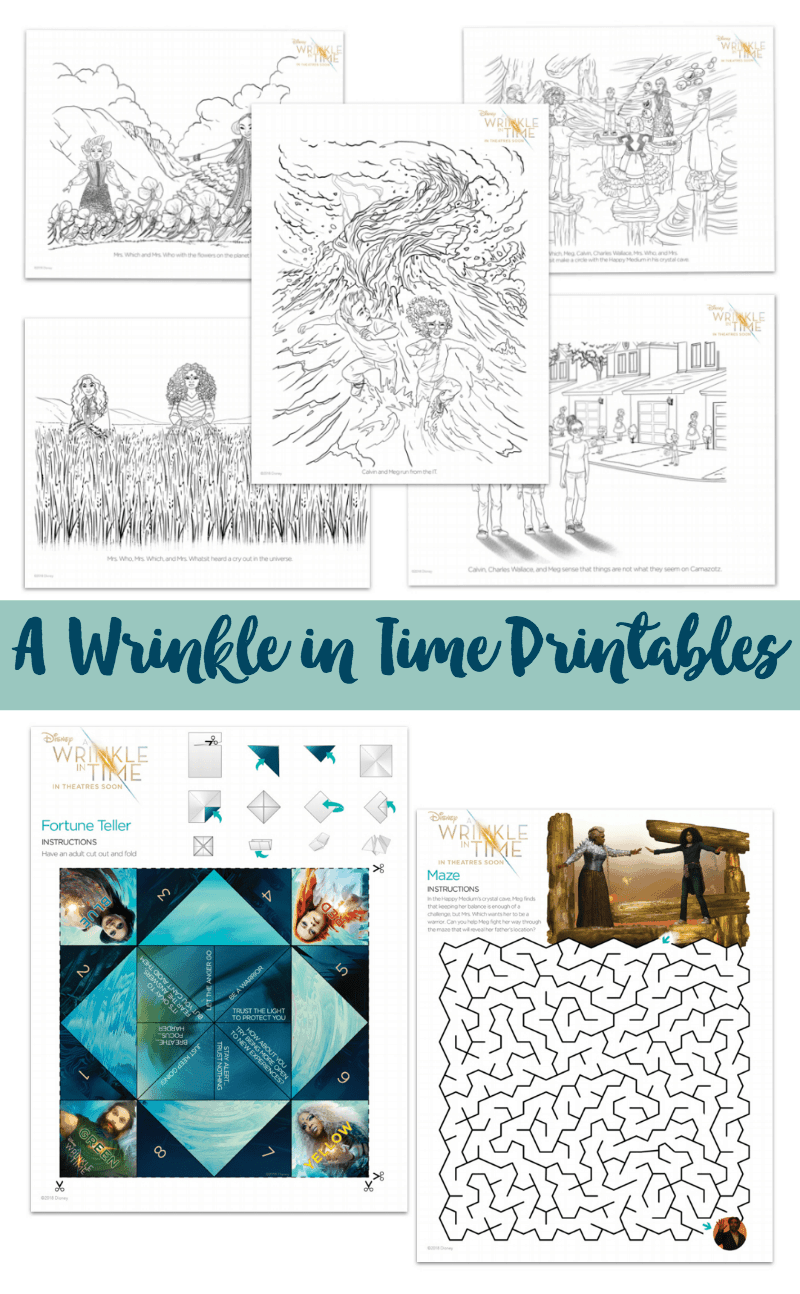 A Wrinkle in Time Printables #WrinkleInTime - Sunny Sweet Days
