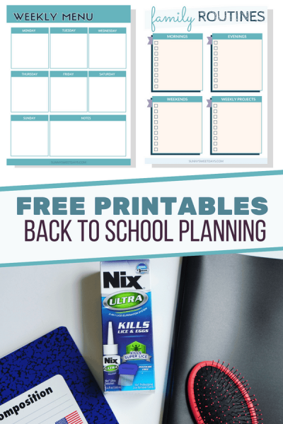 Back to School Printable Planner