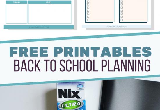 Back to School Printable Planner