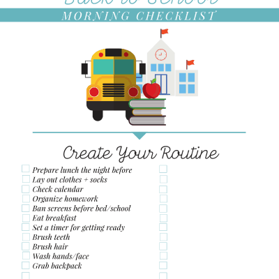 #AD Back to School Morning Checklist