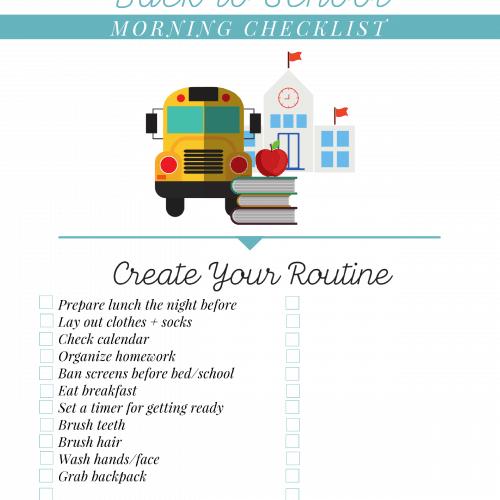 Back to School Printable Checklist