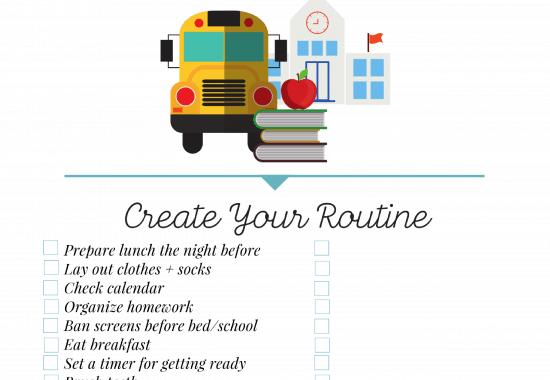 #AD Back to School Morning Checklist