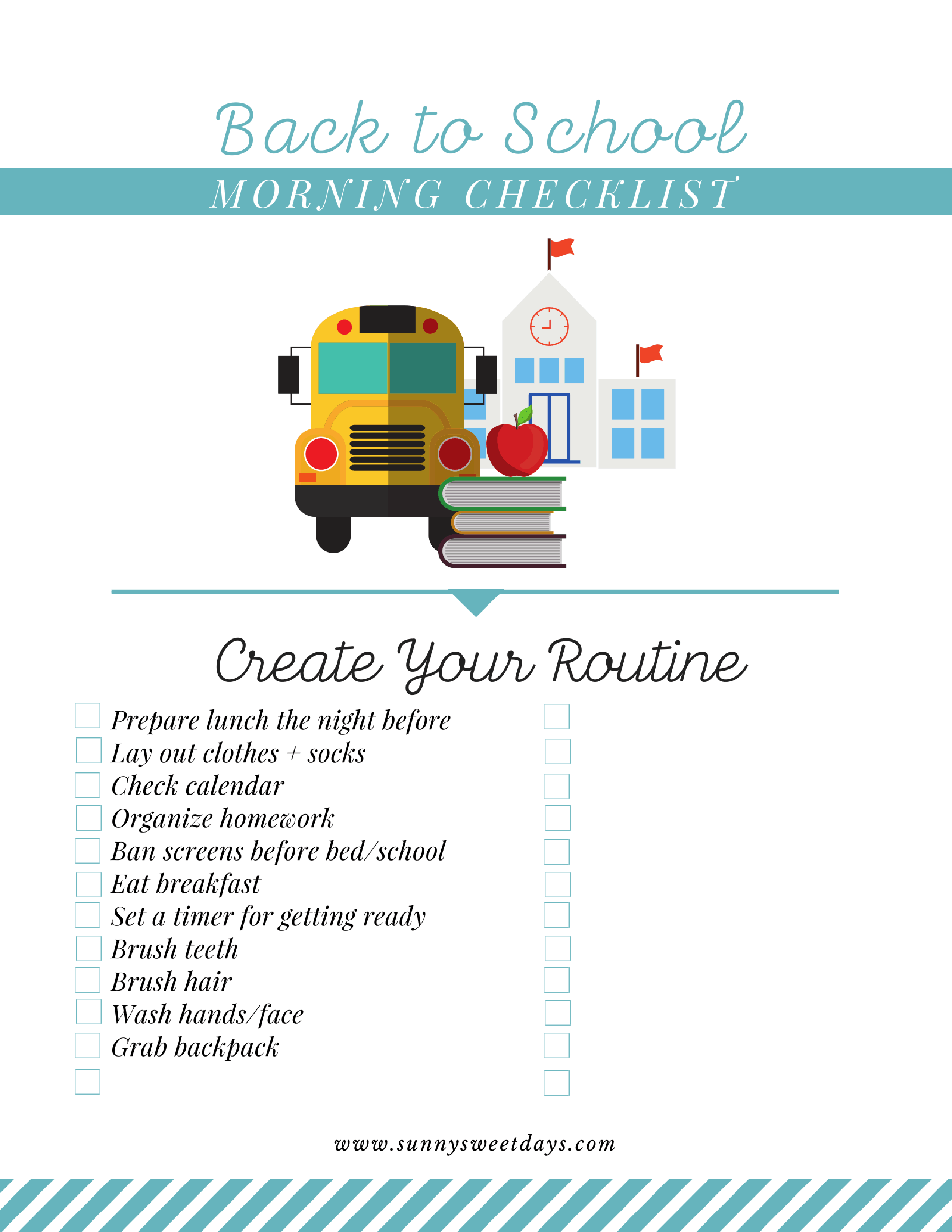 Back to School Printable Checklist