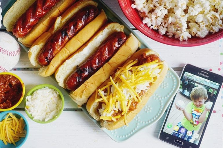Baseball Hot Dog Party