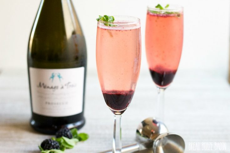 Blackberry Mint Bellini