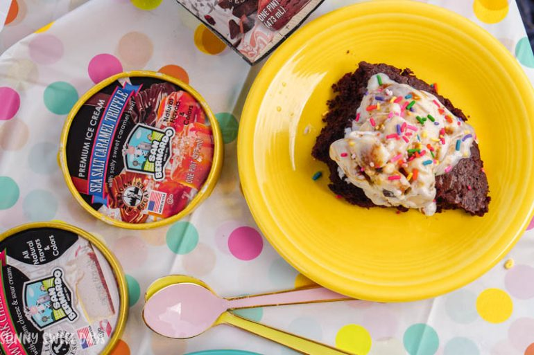 Brownie Ice Cream Sundaes-2