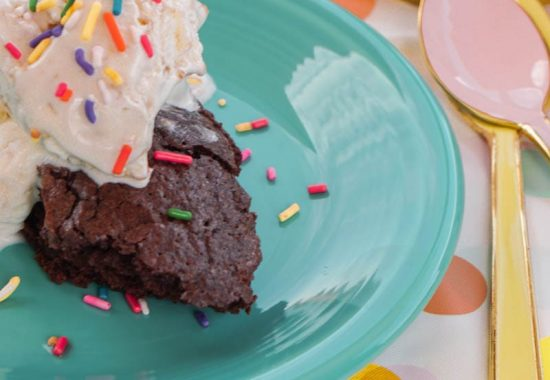 Brownie Ice Cream Sundaes
