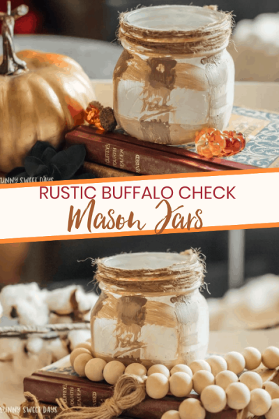 Buffalo Check Mason Jars