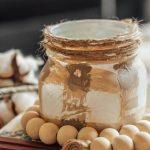 Buffalo Plaid Mason Jar Candles
