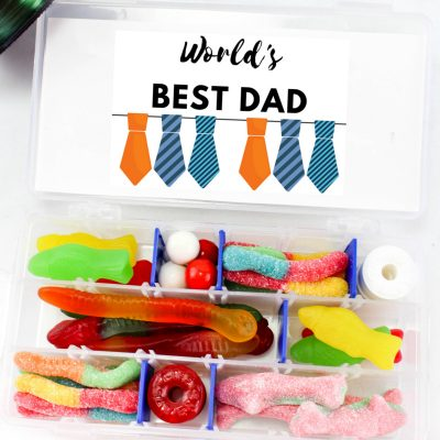 Personalized Father's Day Gifts: Candy Tackle Box