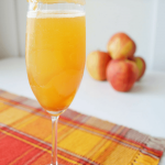 Caramel Apple Mimosa | Delicious Fall Cocktail