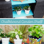 DIY Chalkboard Garden Shelf