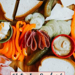 Gluten Free Sandwich Charcuterie Board