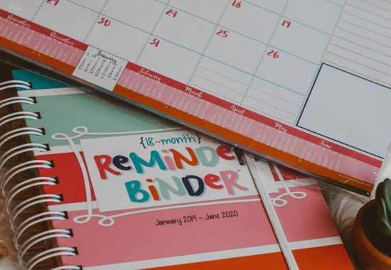 Colorful Cheap Planner For Busy Moms | Busy Mom Planner on a Budget