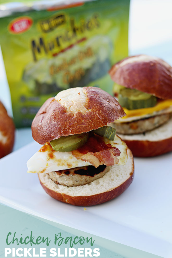 Chicken Bacon Pickle Sliders