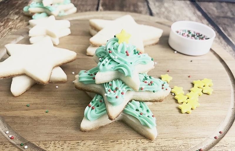 Christmas Tree Sugar Cookies