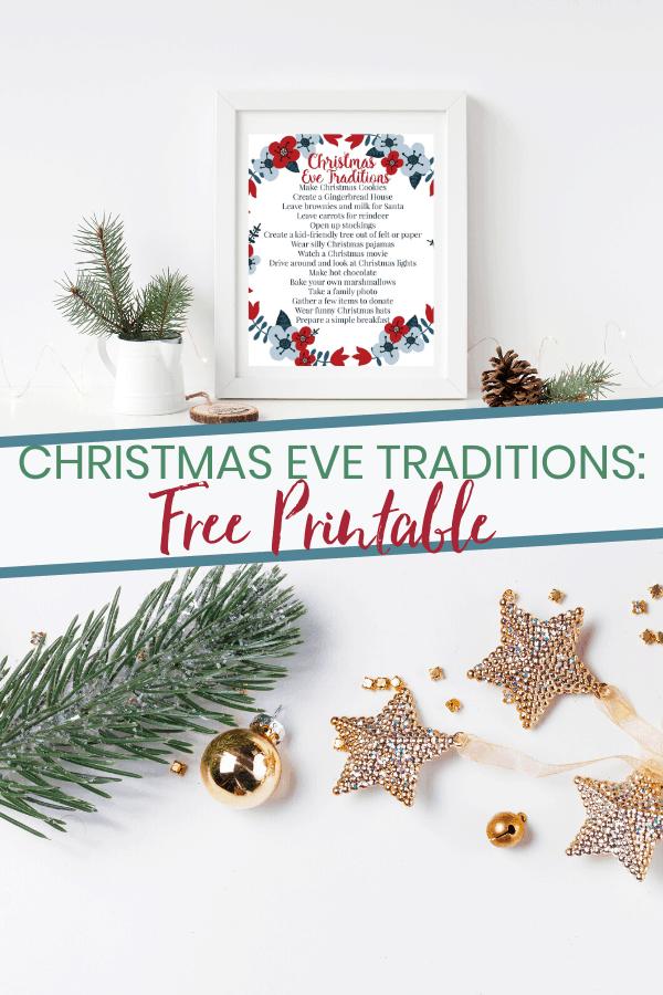 Christmas Eve Traditions Printable