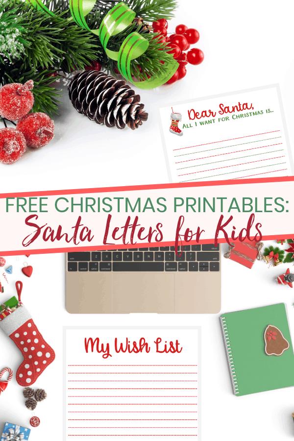 Santa Letter Printables: Christmas Planner For Kids