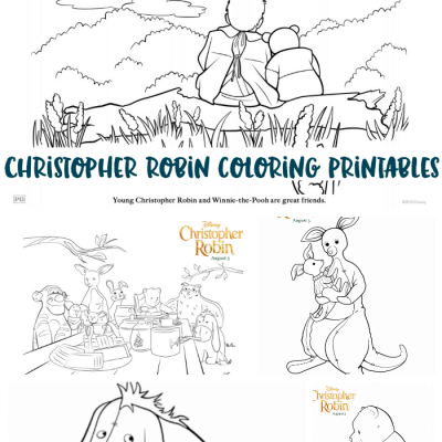 Christopher Robin Coloring Pages Printables | #ChristopherRobin