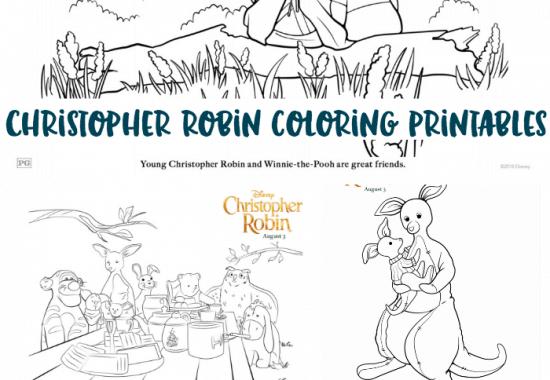 Christopher Robin Coloring Pages Printables | #ChristopherRobin