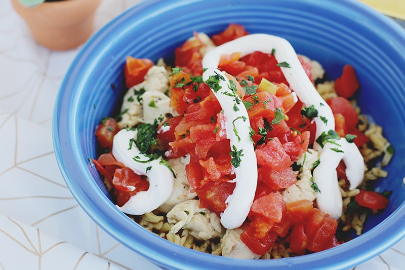 Quick Chicken Rice Bowls