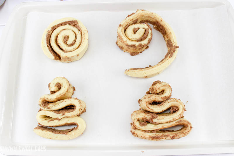 Cinnamon Roll Christmas Trees
