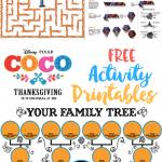 Disney Pixar Coco Printable Activity Sheets #PixarCoco