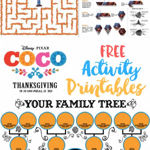 Coco Activity Sheets Printables