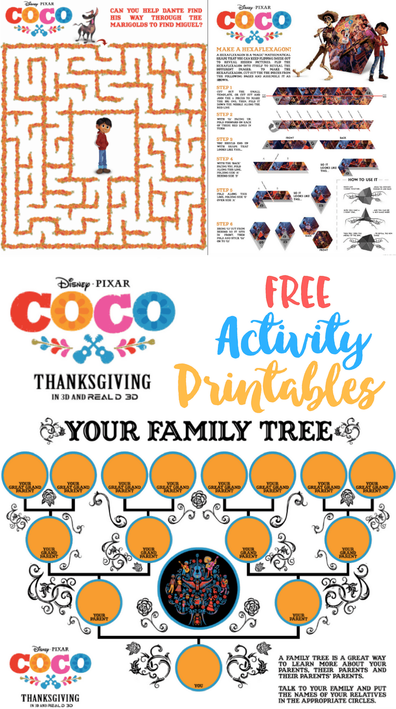 Coco Activity Sheets Printables