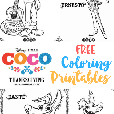 Coco Free Printable Coloring Sheets #PixarCoco