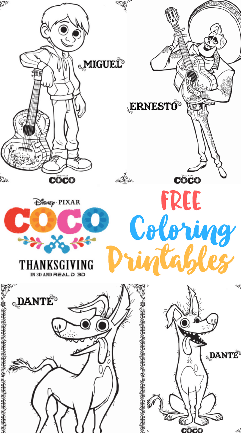 Coco Free Printable Coloring Sheets PixarCoco