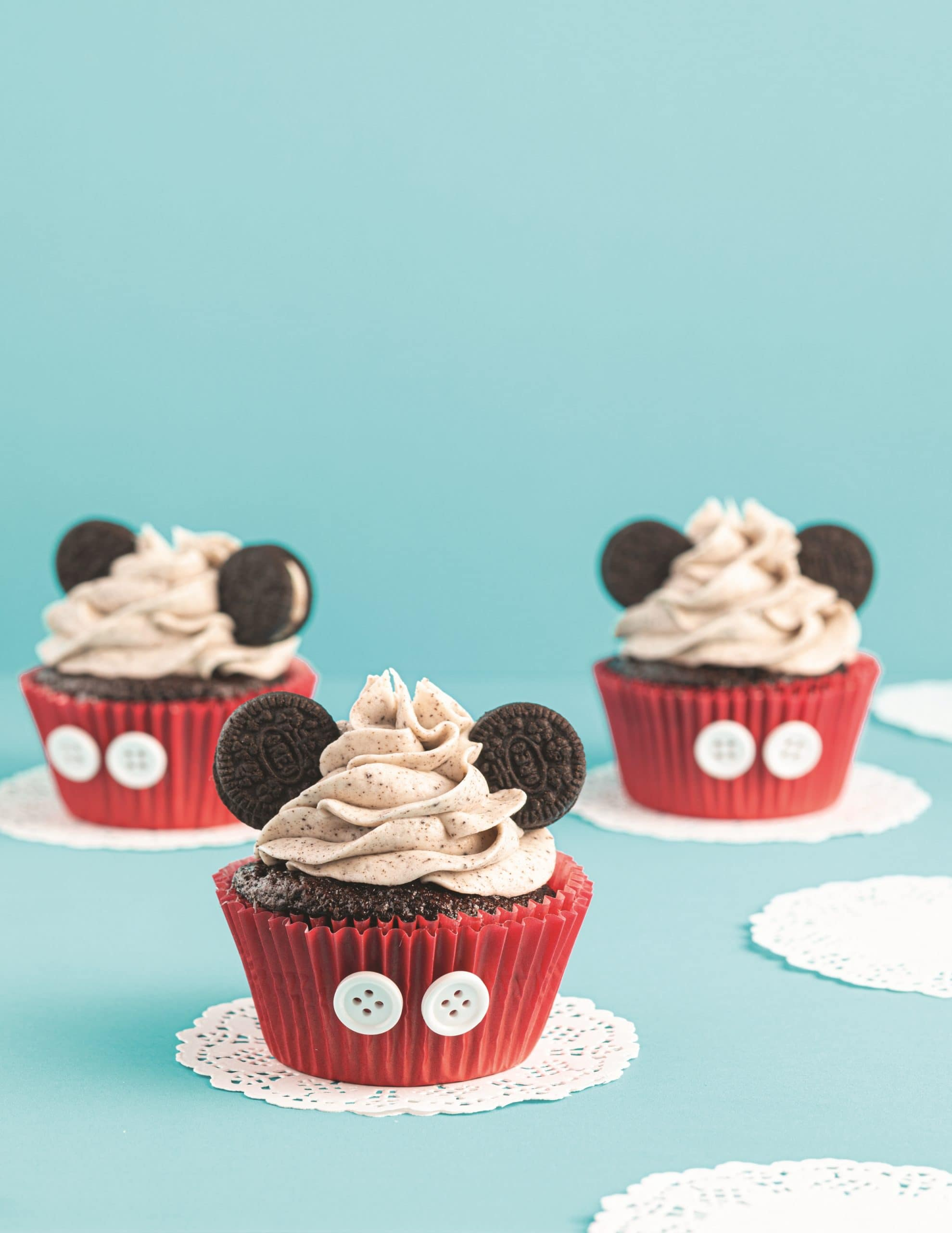 Cookies and Cream Mickey Cupcakes