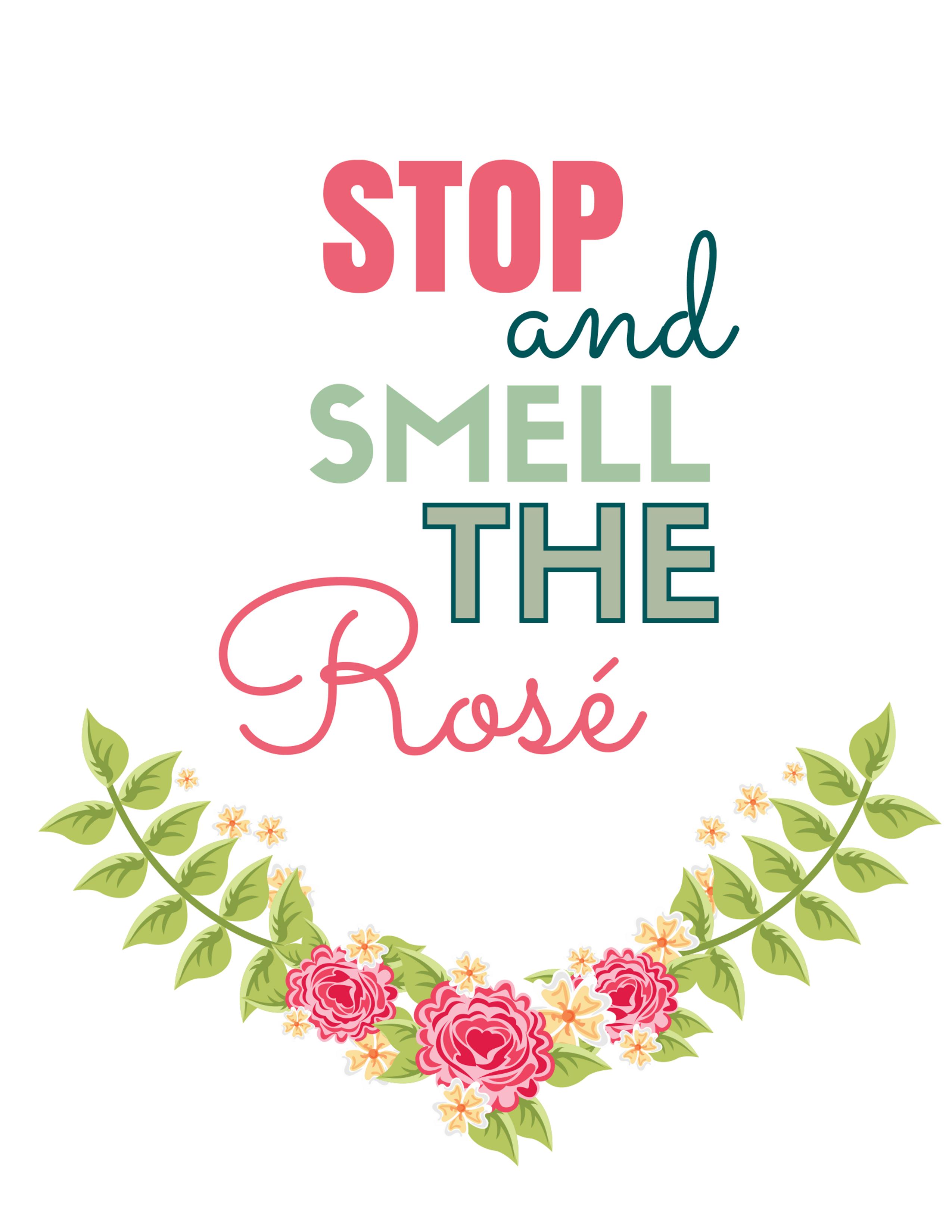 Rose Wine Art Print