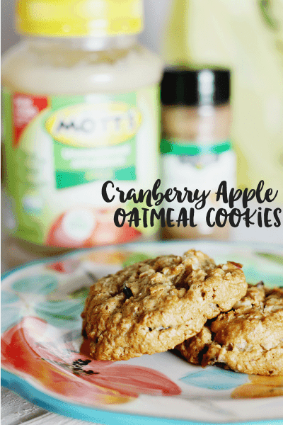 Cranberry Apple Oatmeal Cookies