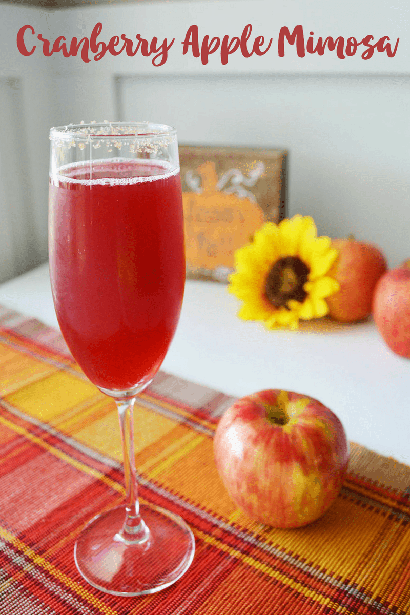 Cranberry Apple Mimosa