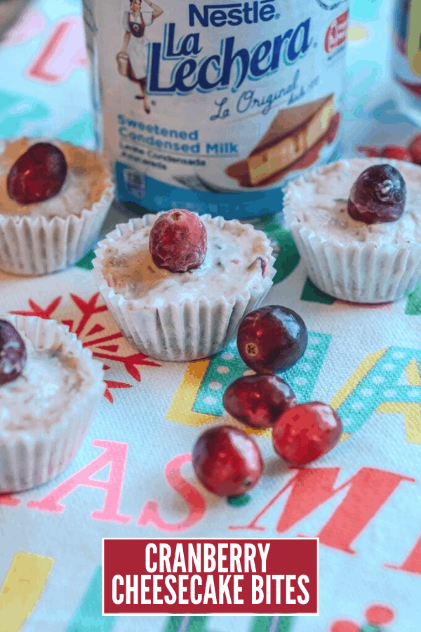 Christmas Recipes: Cranberry Cheesecake Bites