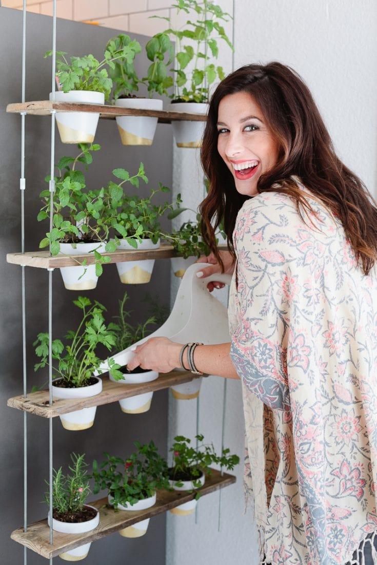 Custom Potted Hanging Herb Garden DIY
