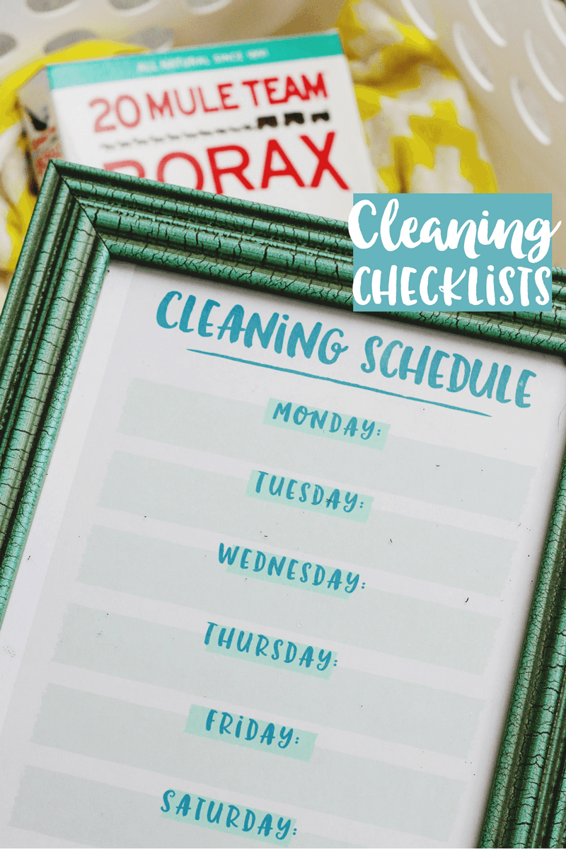 DIY Cleaning Checklists