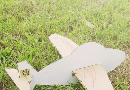DIY Cardboard Box Glider Craft