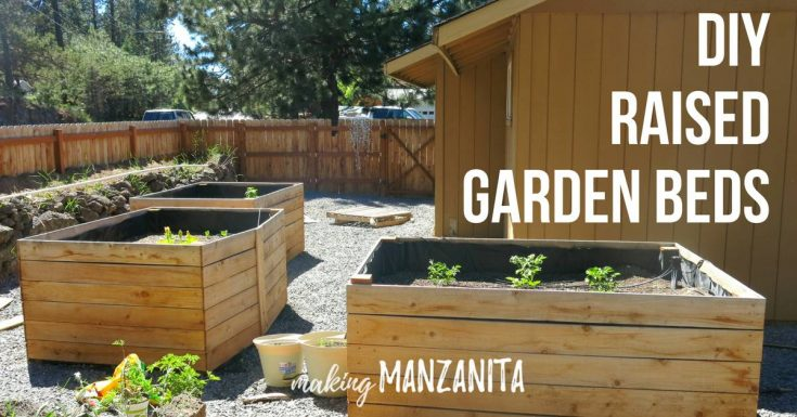 DIY Raised Garden Beds Using Cedar Boards