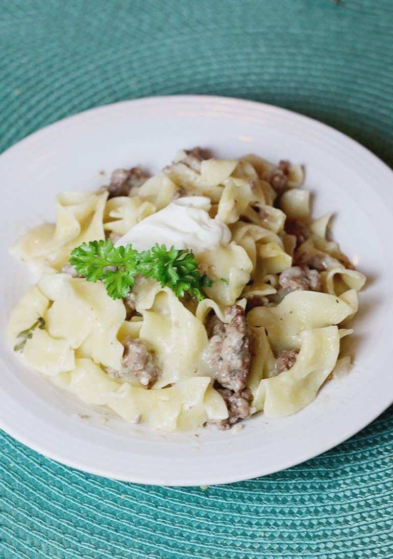 "Try a Beef Stroganoff Twist: Swedish ""Meatball"" Lasagna!"