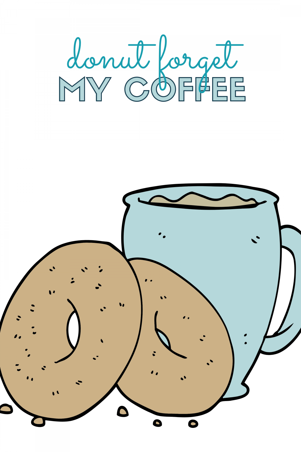 Donuts and Coffee Printables