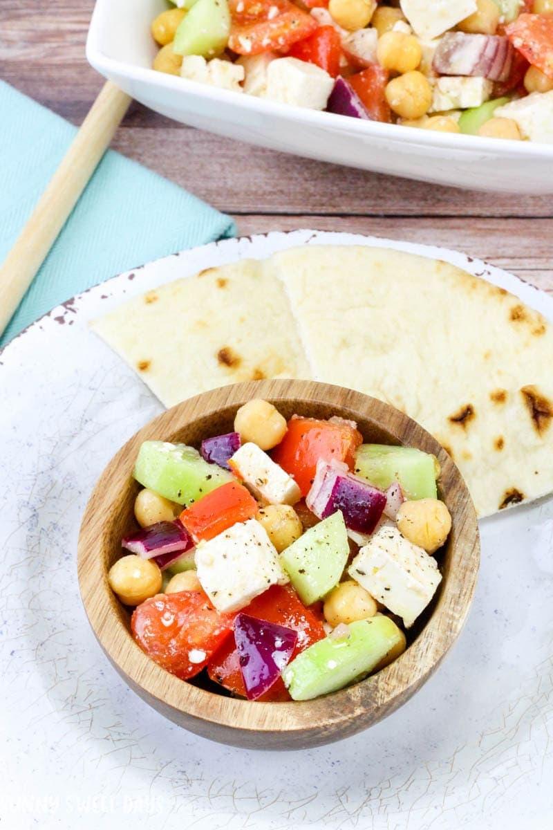Easy Chickpea & Feta Salad