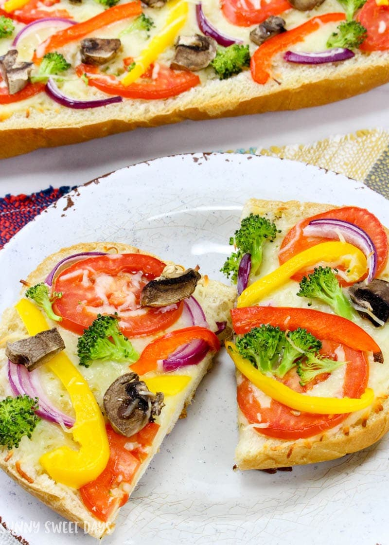 Easy Veggie French Bread Pizza