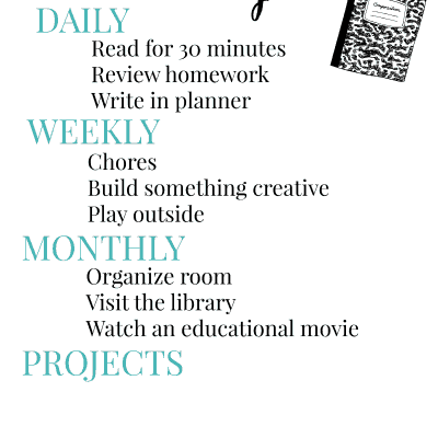 Educational Goals Printable