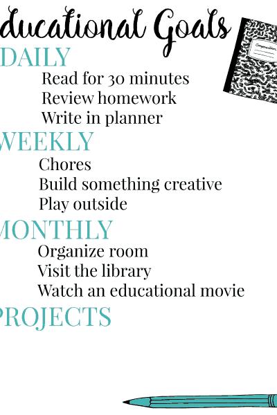 Educational Goals Printable