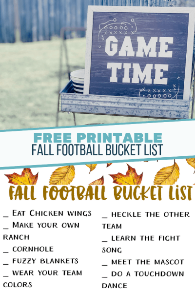 Fall Football Bucket List